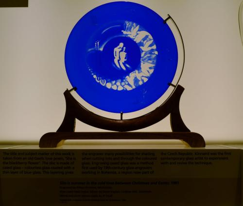 """Glass plate, entitled """"The Lovers""""."""